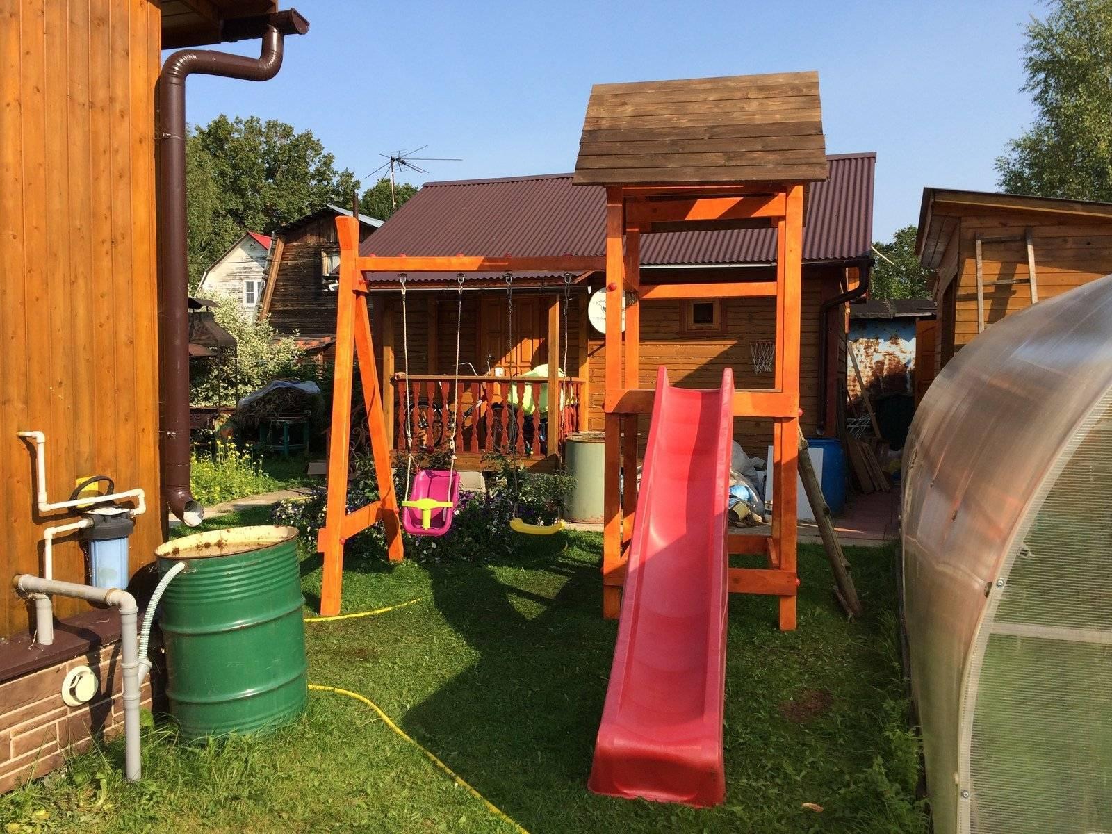 Детская площадка на даче своими руками: игровая, спортивная | (100 оригинальных фото идей & видео)