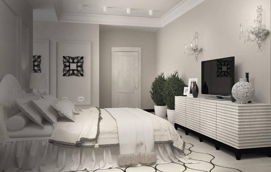 Спальня в белых тонах — лучшие идеи по сочетанию белых оттенков в интерьере спальни (200 фото)