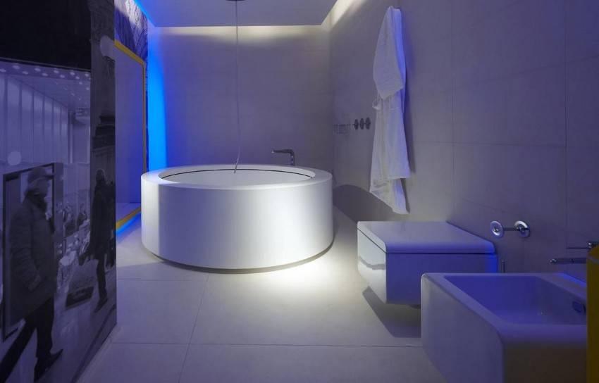 Дизайн ванной в стиле хай-тек: идеи оформления