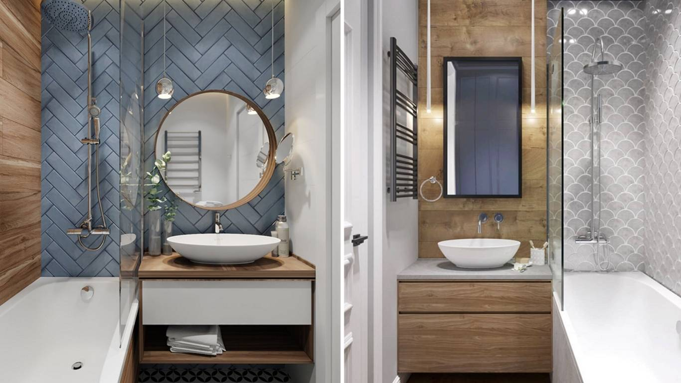 Дизайн маленькой ванной комнаты без туалета 15 фото