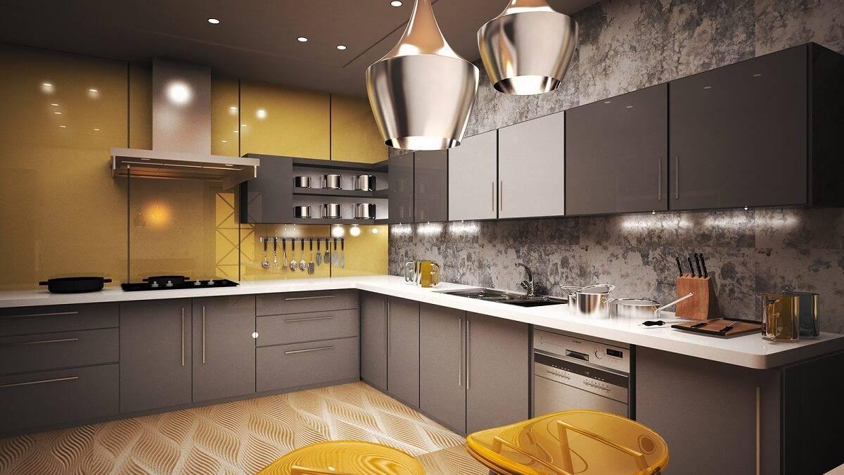 Дизайн кухни яркого цвета: советы по оформлению, реальные фото примеры