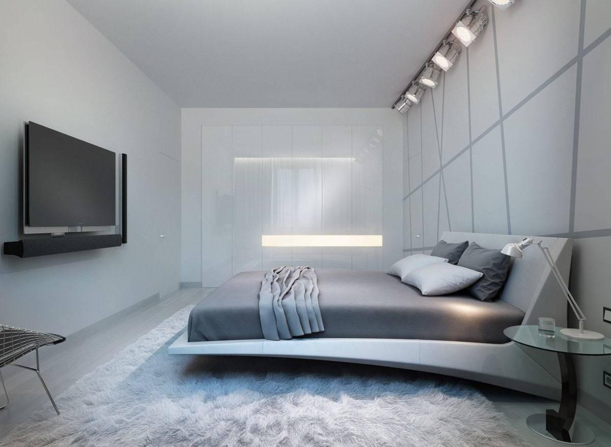 Спальня в стиле хай тек, особенности интерьера с фото
