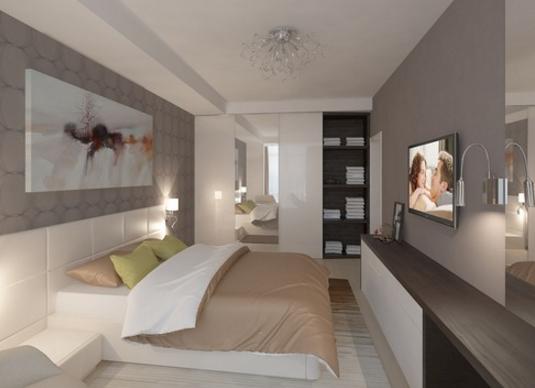 Спальня 14 кв. м.: 110 фото хорошо обставленных современных просторных спален