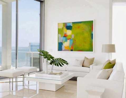 Как подобрать картины в гостиную в современном стиле (10 фото)