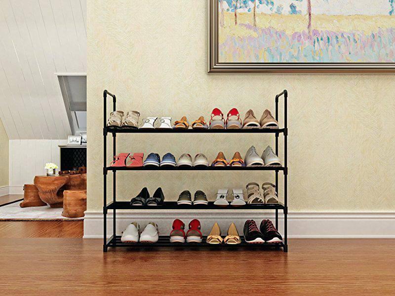 Как сделать полку для обуви своими руками в прихожую из разных материалов + фото и видео