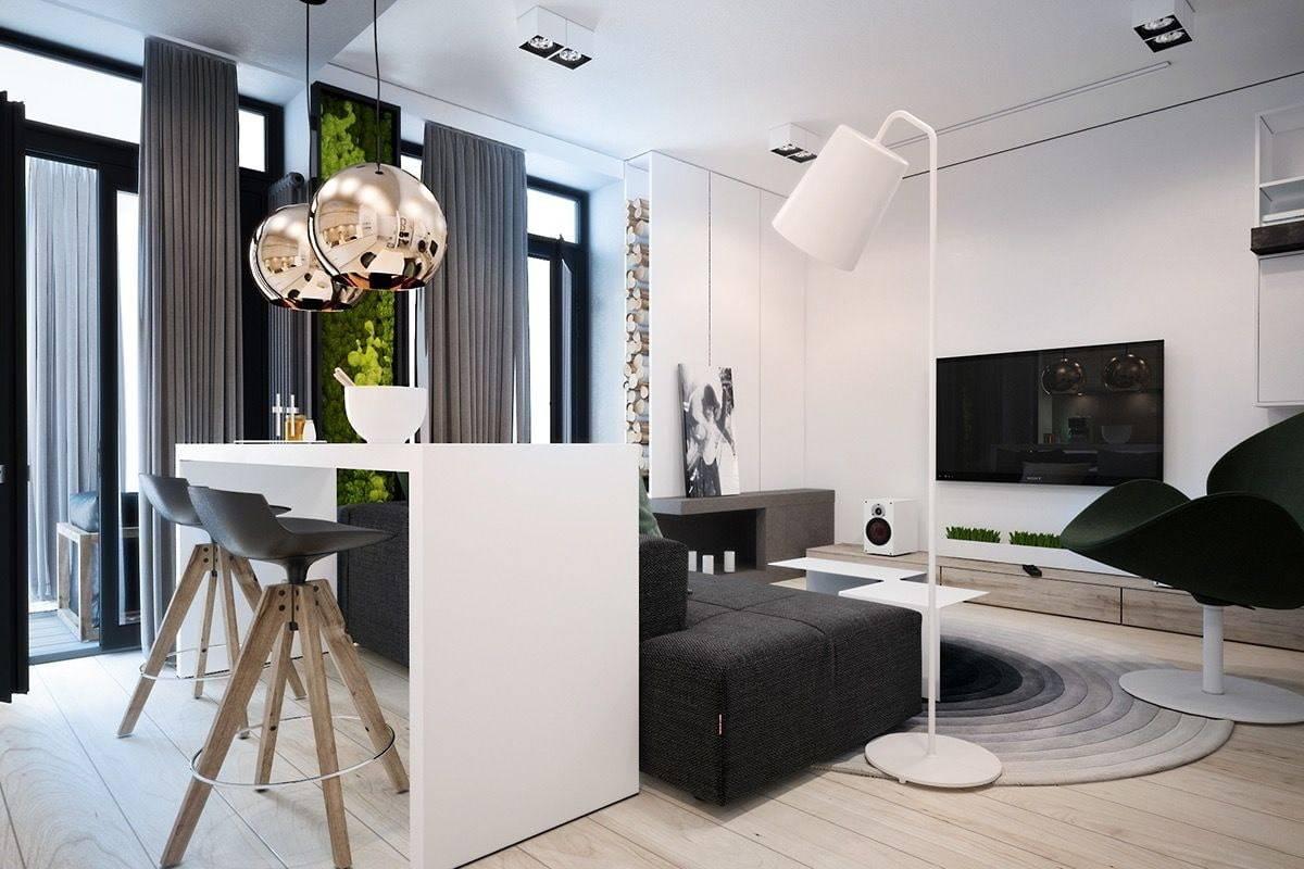 Особенности оформления однушки для холостяка: выбор цвета, мебели и правильное зонирование