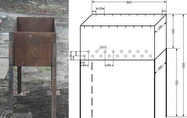 Новый вид мангала с вертикальным расположением шампуров: (эко мангал)