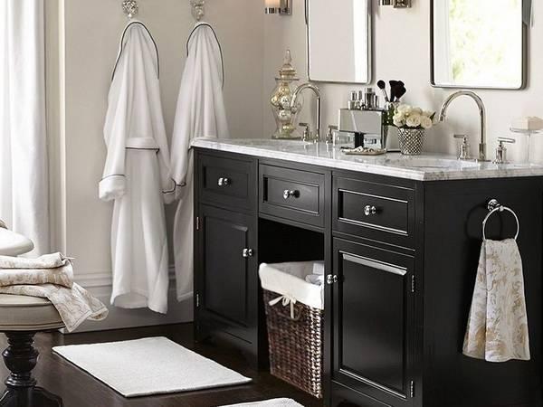 Корзина для белья в ванной: варианты и идеи   домфронт
