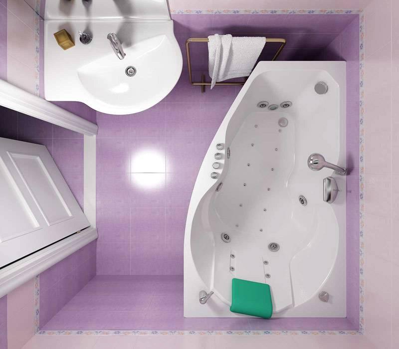 Угловая ванна в интерьере: плюсы и минусы, примеры дизайна