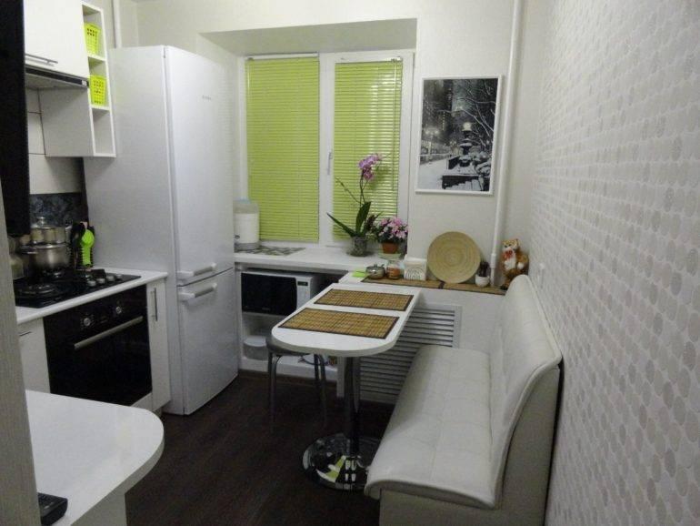Дизайн кухни площадью 6 кв. метров