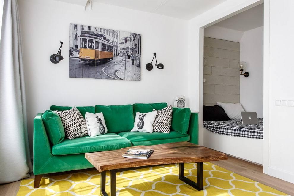 Зонирование в однокомнатной квартире - идеи и реальные фото