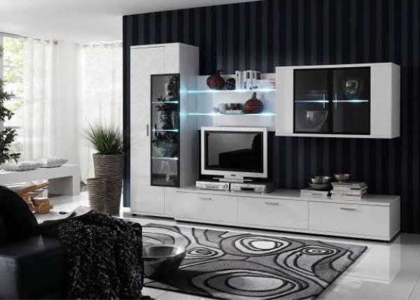 Мини-стенки для гостиной (41 фото): стильные маленькие стенки для зала, конструкции небольшого размера