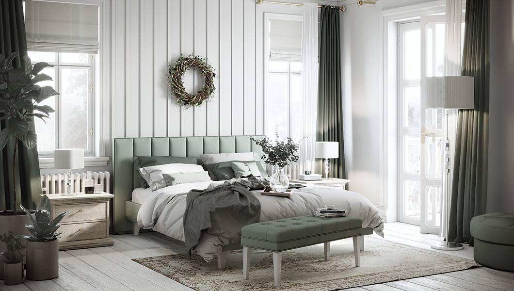 Мягкая прикроватная тумбочка в спальню - как выбрать   фото