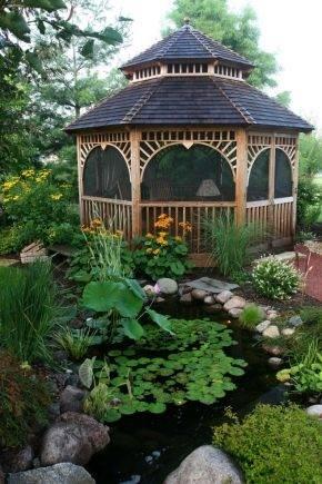 Лучшие беседки для украшения сада: фото красивого ландшафтного дизайна дачи с беседками, формы и материалы