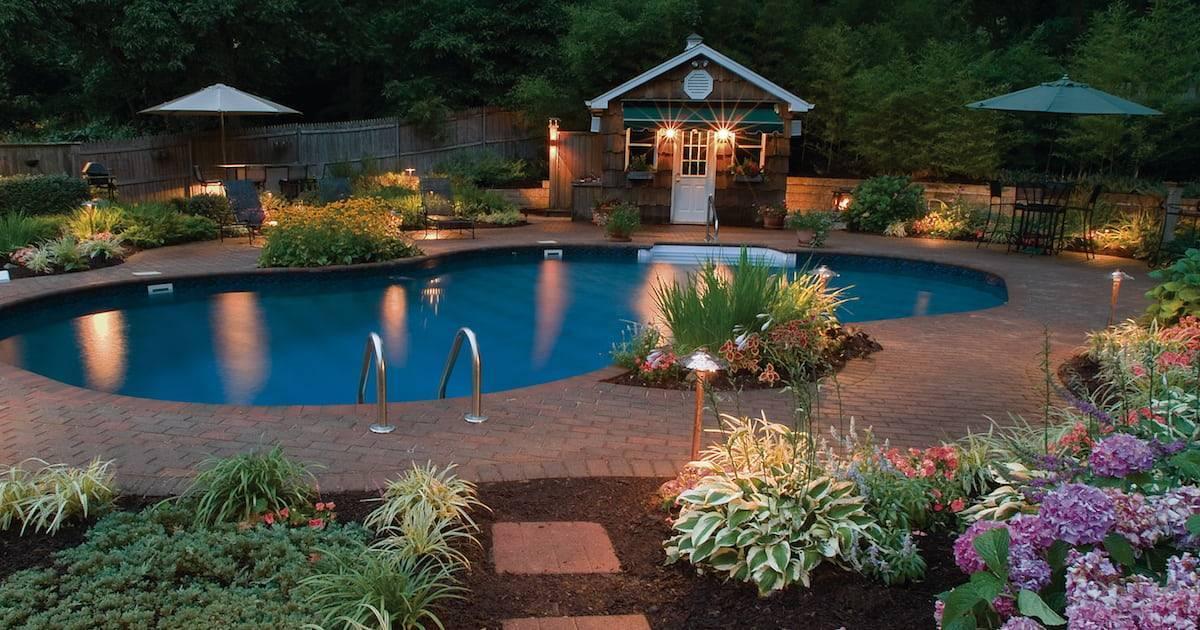Двор частного дома - 115 фото лучших идей ландшафтного дизайна