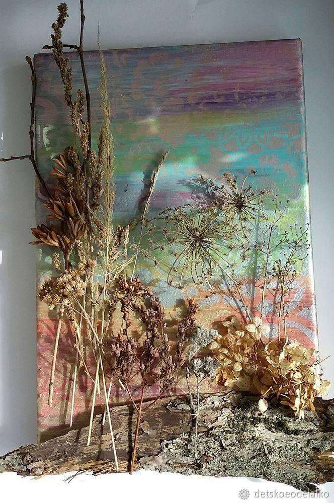 Поделки с сухими цветами - 5 элегантных идей