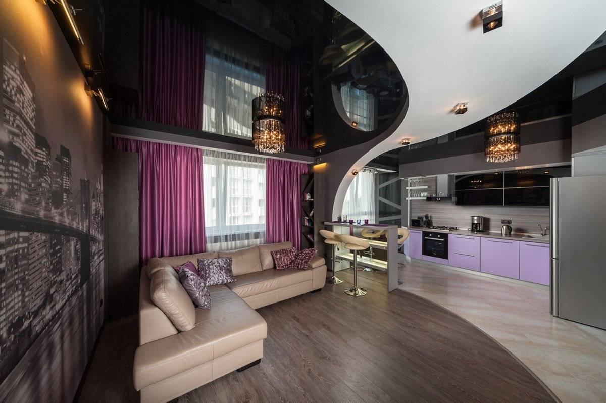 Натяжные потолки с гипсокартоном (48 фото): короб из гипсокартона под потолок, потолочные покрытия на гипсокартонные стены