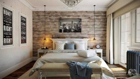 Красивый и стильный дизайн спальни, совмещенной с балконом