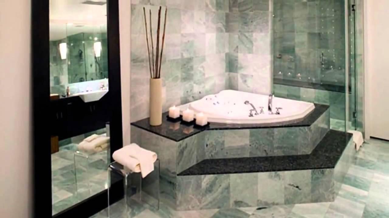 Варианты дизайна ванной комнаты под мрамор
