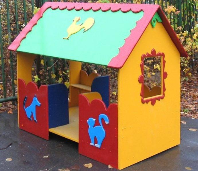 Детский домик на участке своими руками (40 фото): 3 пошаговых инструкции