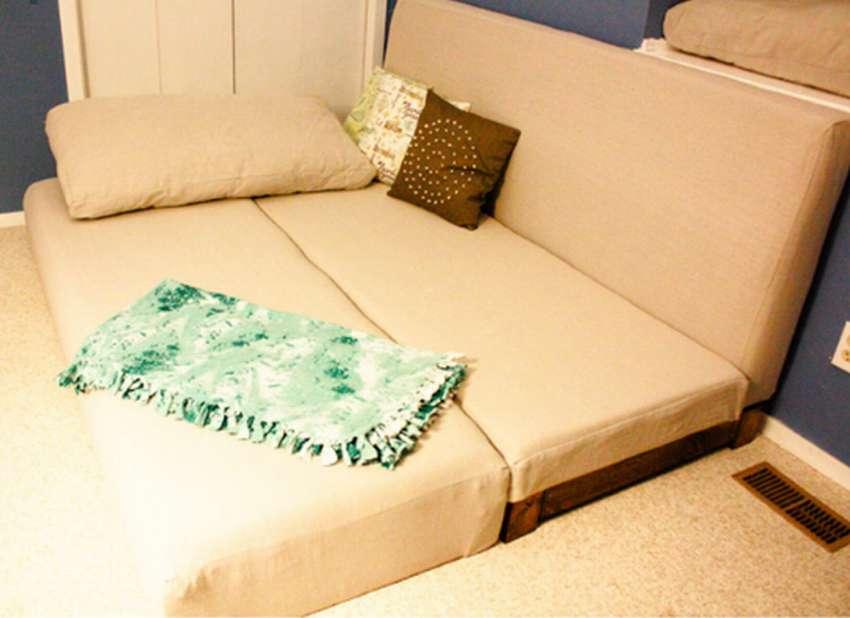 Чертежи и схемы дивана-еврокнижки своими руками: пошаговая сборка