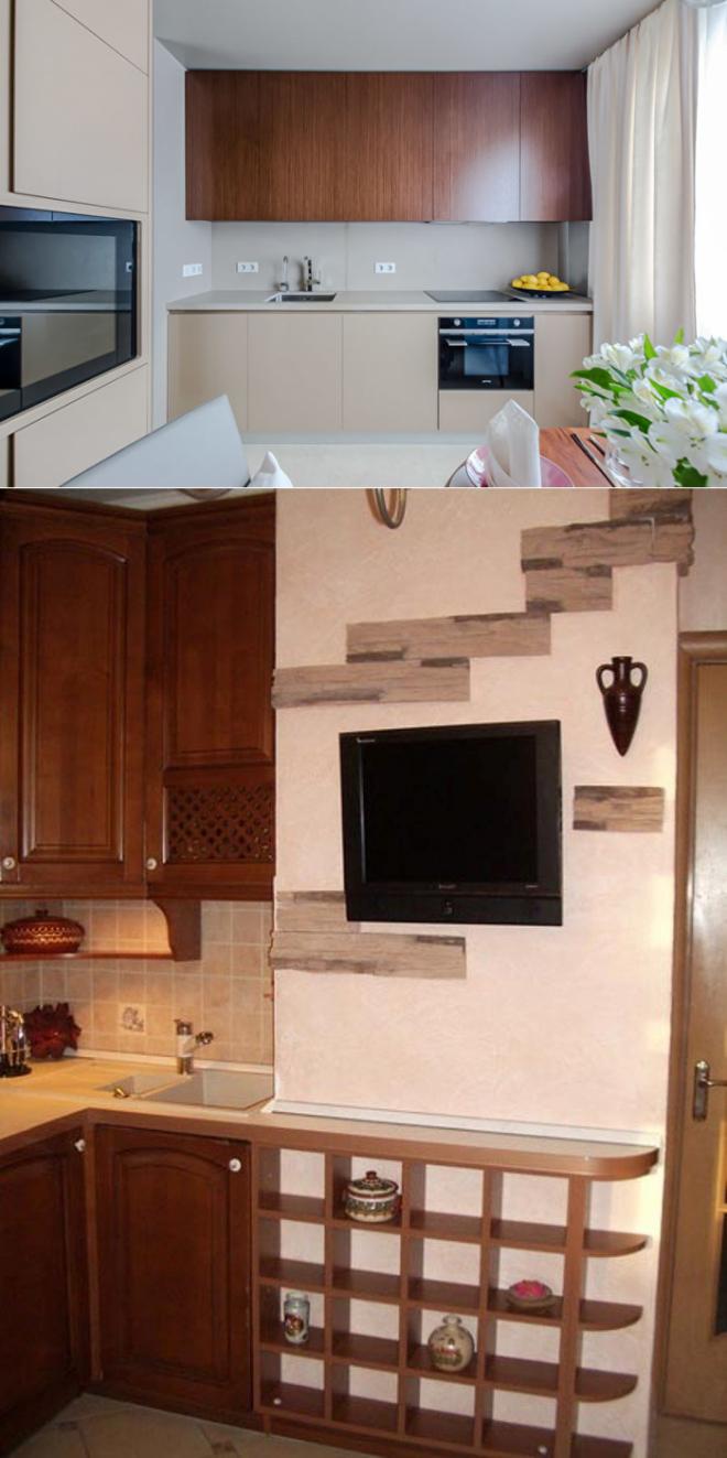 Кухня в п 44 (45 фото)