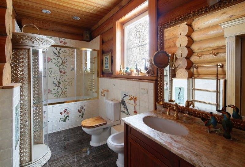 Идеи дизайна санузла в деревянном доме