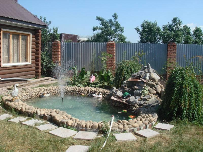 Искусственный водопад в саду своими руками: пошаговая инструкция