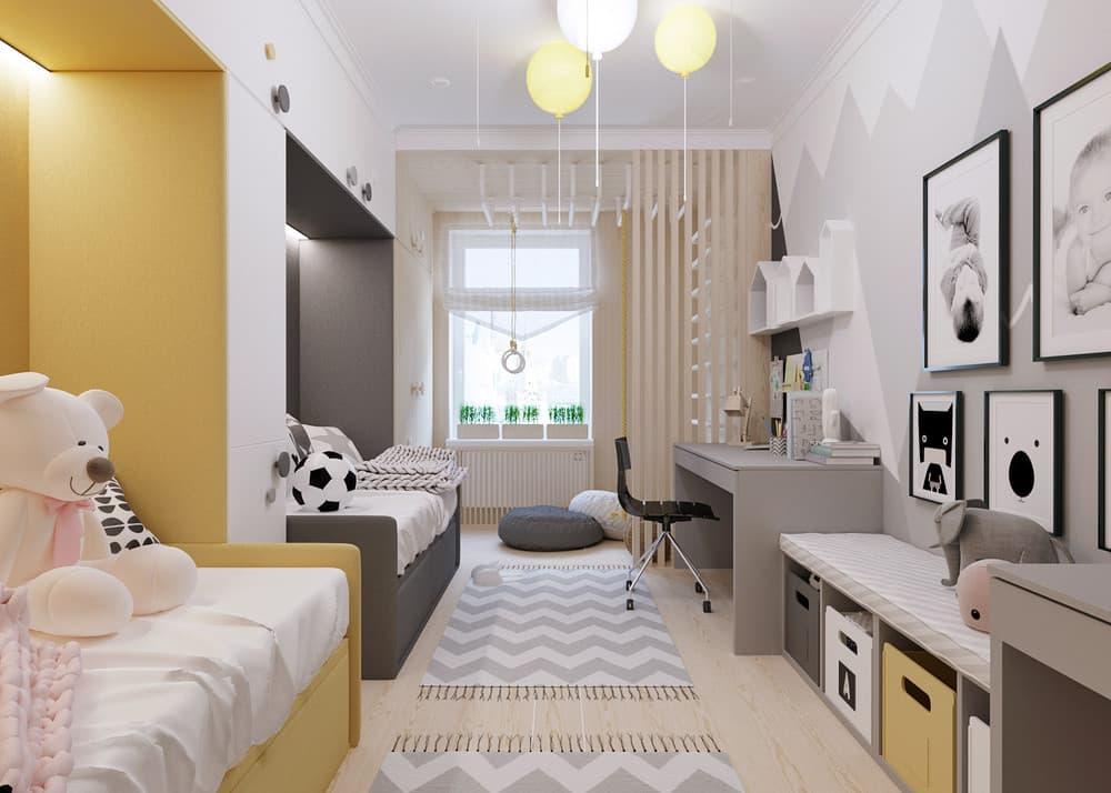 Детские комнаты для разнополых детей разного возраста   варианты оформления