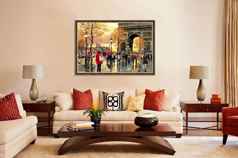 Фреска на стену — виды, особенности, фото в интерьере