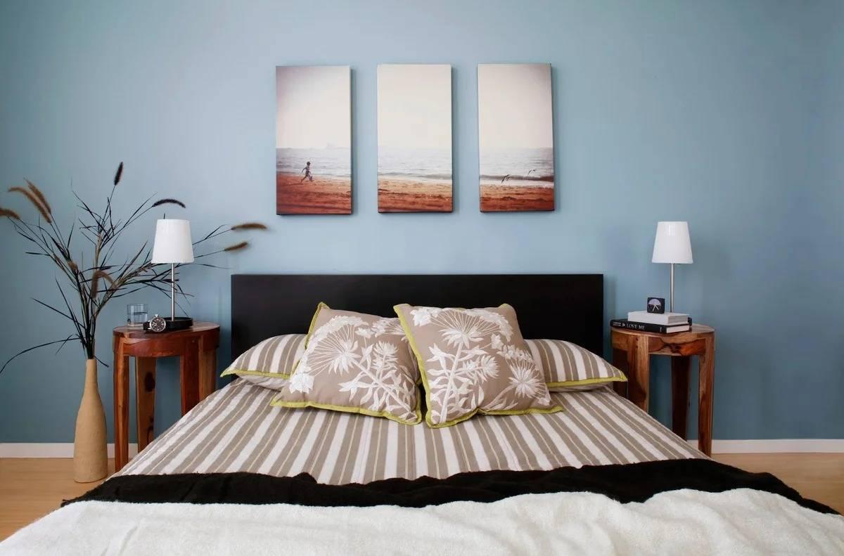 Картины для спальни: как повесить над кроватью, какие можно и нельзя вешать в интерьере, модульные, фото