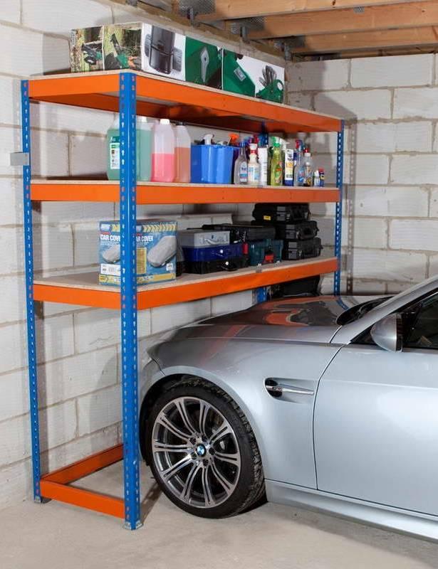 Как сделать полки в гараже своими руками - из уголка, дерева и другие варианты с фото