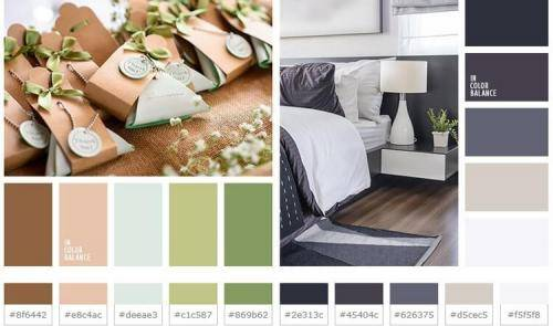 Идеальное сочетание цветов в интерьере спальни на 70 фото