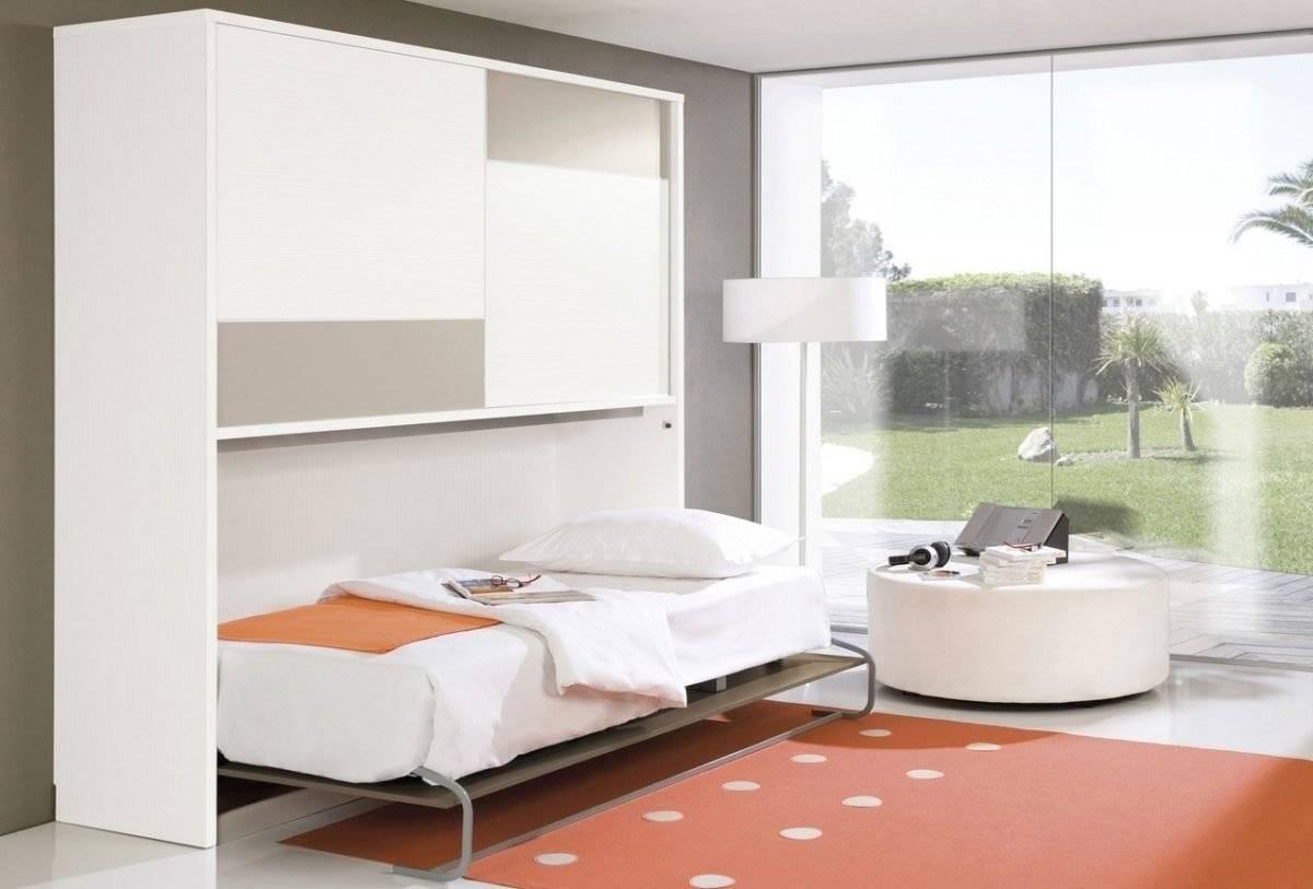 Кровать в стене: идеи c подъемным механизмом, с диваном, шкаф-кровать