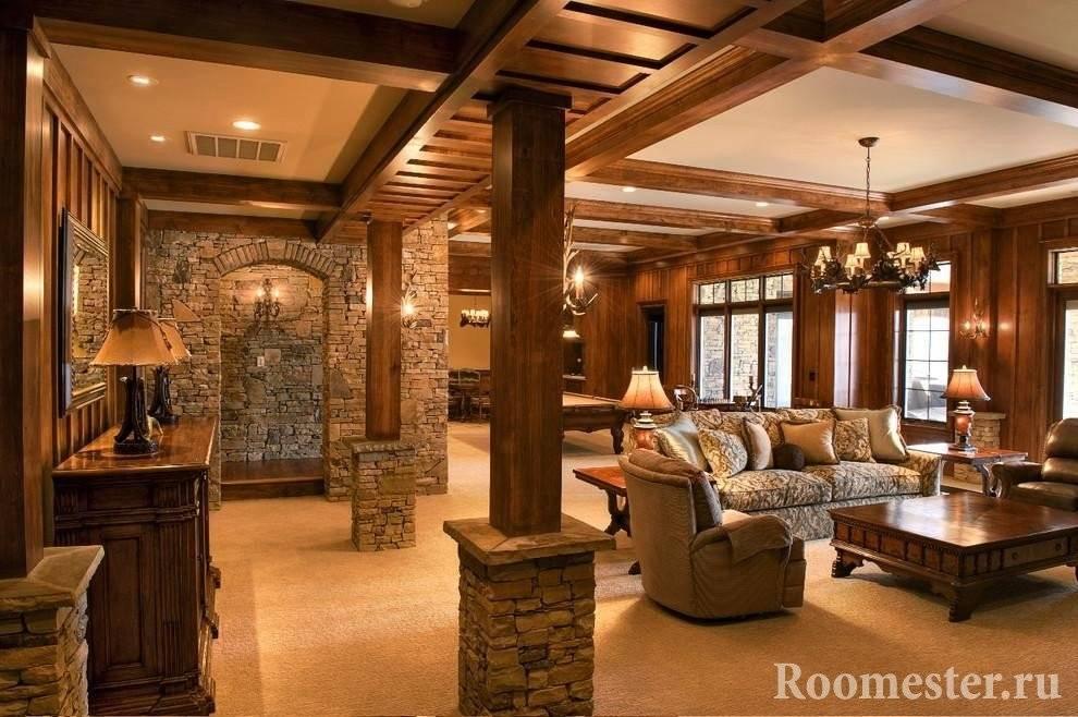 Пилястры в интерьере гостиной: изящество полуколонн в современном дизайне + 65 фото