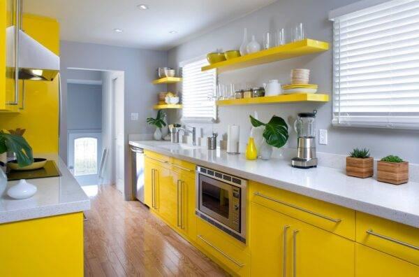 Кухня желтого цвета — как правильно оформить