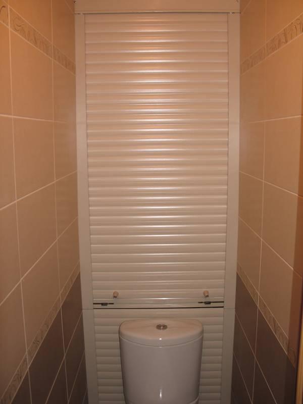 Как использовать рольставни сантехнические в туалете: 45+ функциональных идей