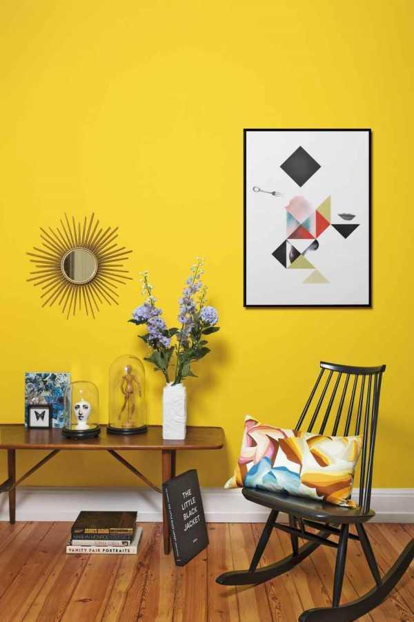 Желтый интерьер и сочетания в нем