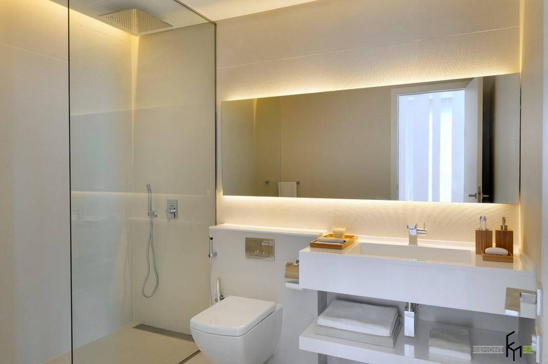Высота зеркала в ванной на какой высоте от пола вешать стандартная схема крепления. как повесить зеркало 70 см над раковиной в ванной комнате