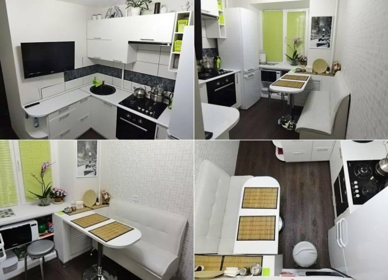 Дизайн кухни 6 кв.м. - 90 фото интерьеров после ремонта, красивые идеи для маленькой кухни