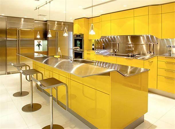 Желтая кухня — лучшие цветовые сочетания и идеи оформления кухонь на фото новинках!