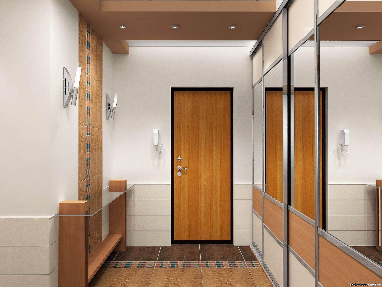 Современный дизайн прихожей для частного дома