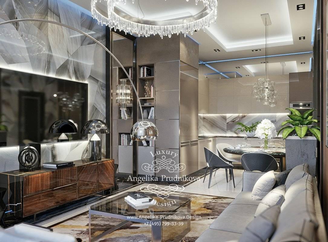 Кухня-гостиная 25 м: проекты, зонирование, цветовая гамма, фото в интерьере