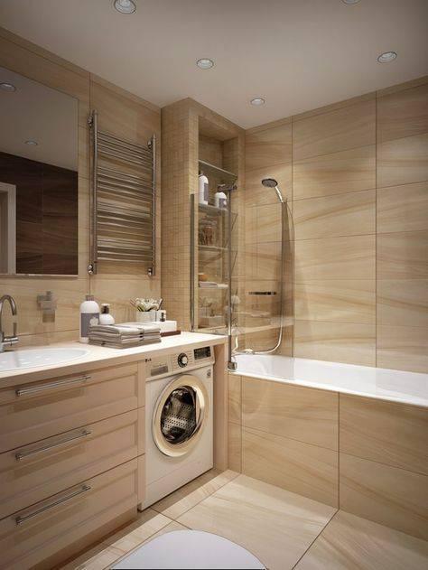 Дизайн маленькой ванной комнаты с туалетом и без