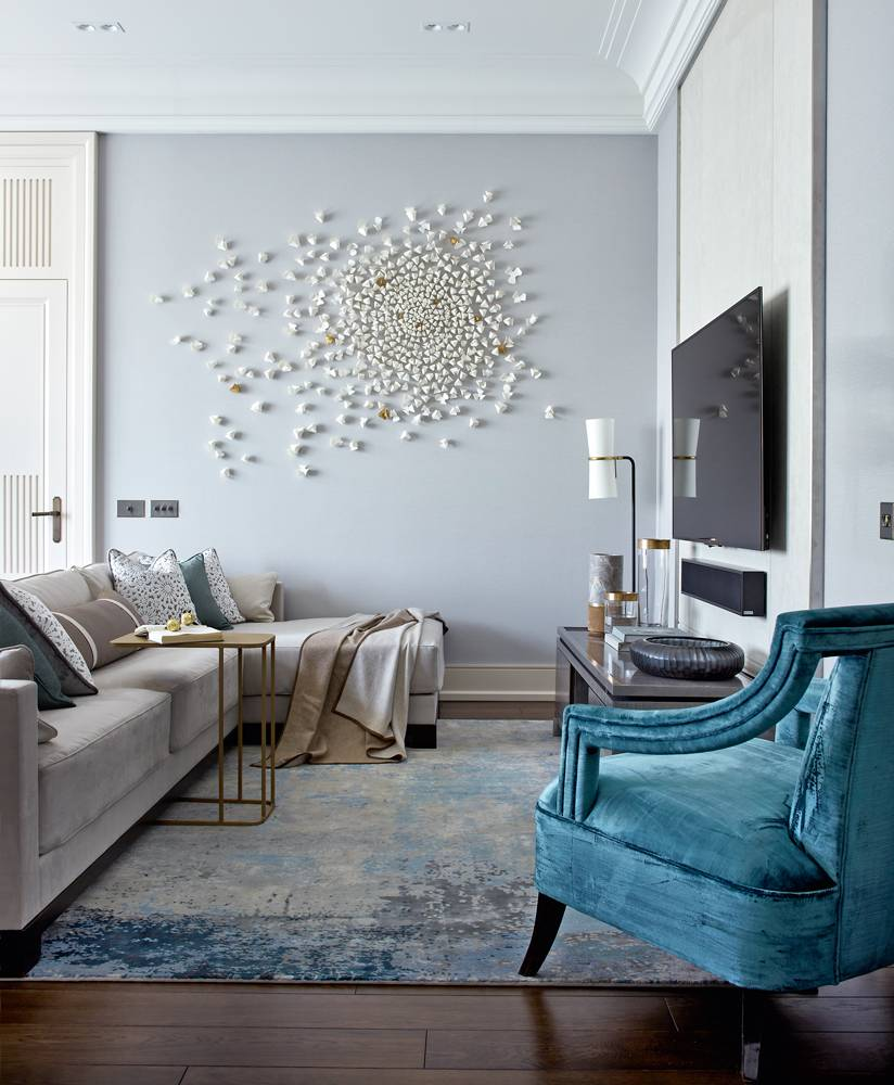 Приемы и методы дизайна акцентной стены в гостиной комнате