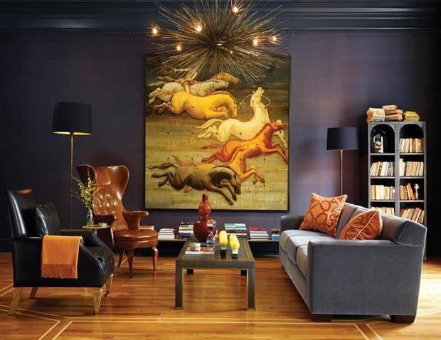 Красивые картины для домашнего интерьера - на какой высоте вешать в квартире, для гостиной или спальни, над диваном, в том числе модульные, постеры и панно, с вышивкой, абстрактные, живопись, из пазлов, китайские + фото