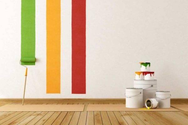 Водоэмульсионная краска для стен: подготовка поверхности, колеровка, инструмент, техника нанесения основы и фактуры