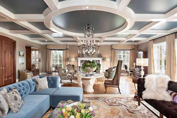 Потолки из гипсокартона в спальне (54 фото): дизайн навесных двухуровневых потолков с подсветкой, подвесные фигурные красивые гипсокартонные потолки и другие варианты
