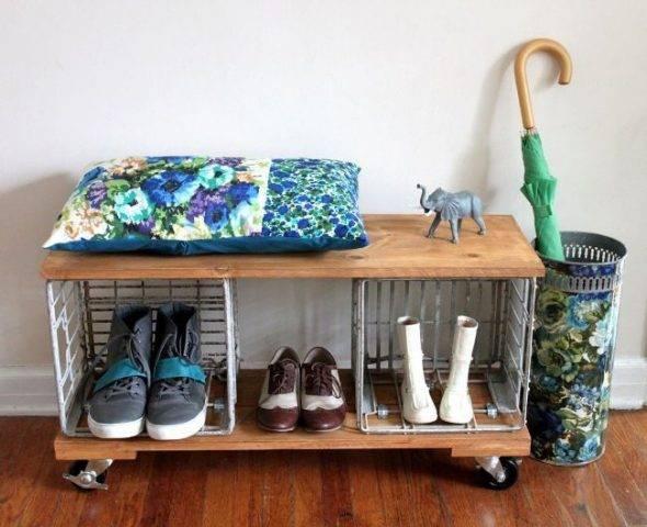Советы по выбору полки для обуви, идеи по изготовлению своими руками