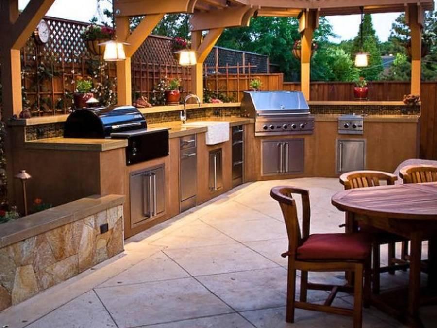Строительство летней кухни на даче своими руками: устройство + примеры дизайна